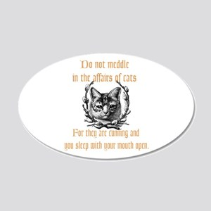 Affairs of Cats 20x12 Oval Wall Decal