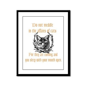 Affairs of Cats Framed Panel Print