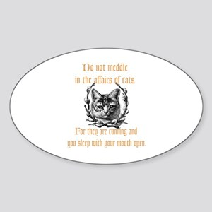 Affairs of Cats Sticker (Oval)