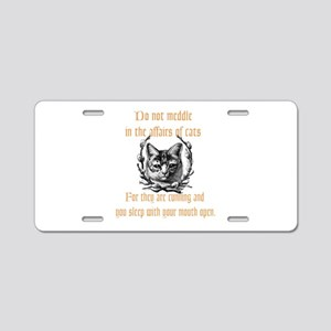 Affairs of Cats Aluminum License Plate