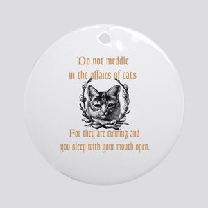 Affairs of Cats Ornament (Round)