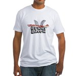 Bunny Bacon Fitted T-Shirt
