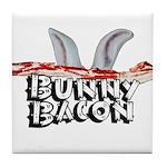 Bunny Bacon Tile Coaster