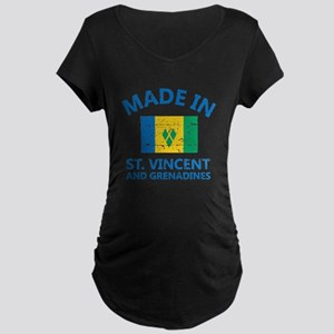 Made in St Vincent and Grenadine Maternity T-Shirt