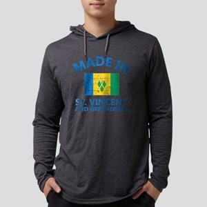 Made in St Vincent and Grenadine Mens Hooded Shirt