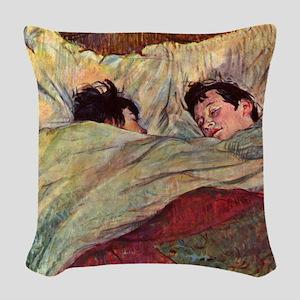 Toulouse Lautrec Sleeping Woven Throw Pillow