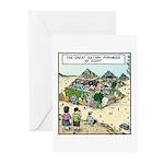 Dietary Pyramids Greeting Cards (Pk of 10)