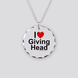 Giving Head Necklace Circle Charm