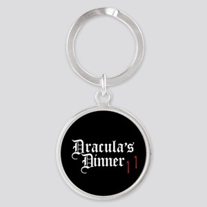 Dracula's Dinner Round Keychain