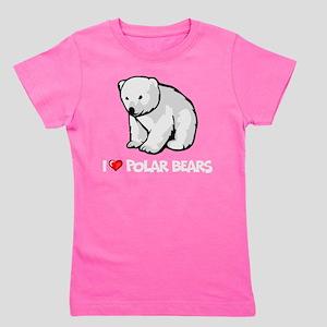I Love Polar Bears Girl's Tee