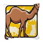 Camel Woven Throw Pillow