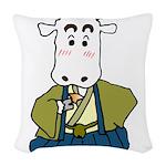 Kimono Cow Woven Throw Pillow