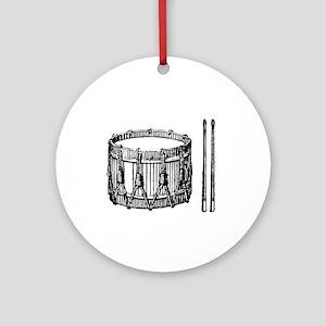 Snare Drum Ornament (Round)