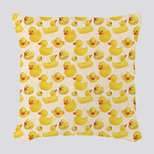 Rubber Duck Woven Throw Pillow
