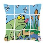 Frog Woven Throw Pillow
