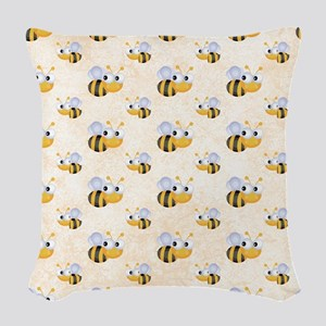 Cute Bee Woven Throw Pillow