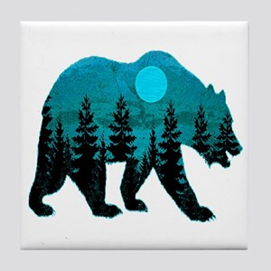 A BLUE MOON Tile Coaster