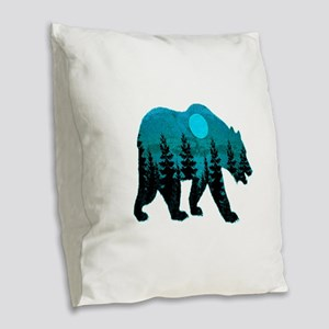 A BLUE MOON Burlap Throw Pillow