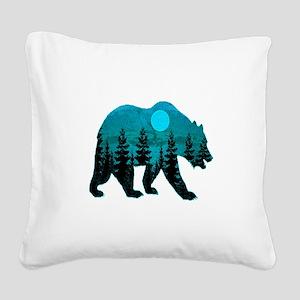 A BLUE MOON Square Canvas Pillow