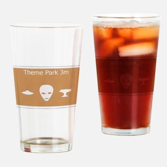 Theme Park Drinking Glass