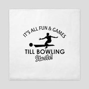 Unique Bowling designs Queen Duvet