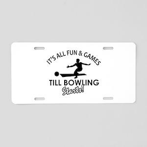 Unique Bowling designs Aluminum License Plate