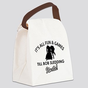 Unique Bob Sledding designs Canvas Lunch Bag