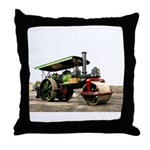 Vintage Steam Roller Throw Pillow