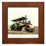 Vintage Steam Roller Framed Tile