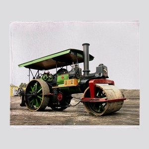 Vintage Steam Roller Throw Blanket
