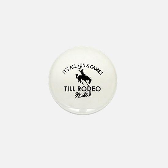 Unique Rodeo designs Mini Button