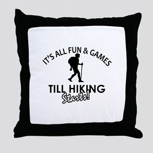 Unique Hiking designs Throw Pillow