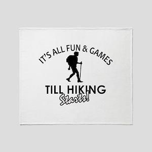 Unique Hiking designs Throw Blanket