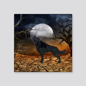 The lonely wolf in the night Sticker