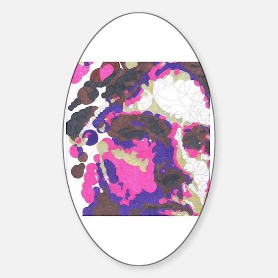 Funny Cobain Sticker (Oval)