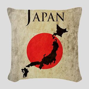 Map Of Japan Woven Throw Pillow