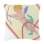 Cupid Love Woven Throw Pillow