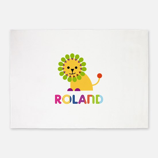 Roland Loves Lions 5'x7'Area Rug