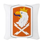 22nd Signal Bde Woven Throw Pillow