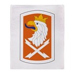 22nd Signal Bde Throw Blanket
