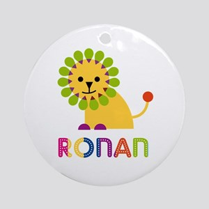 Ronan Loves Lions Ornament (Round)