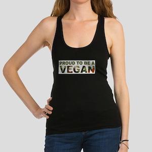 Proud To Be A Vegan Racerback Tank Top