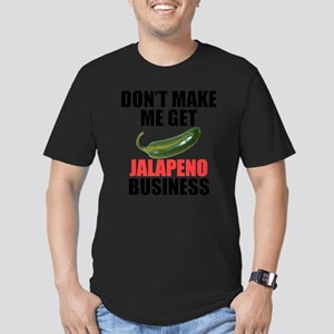 Jalapeno Business Men's Fitted T-Shirt (dark)