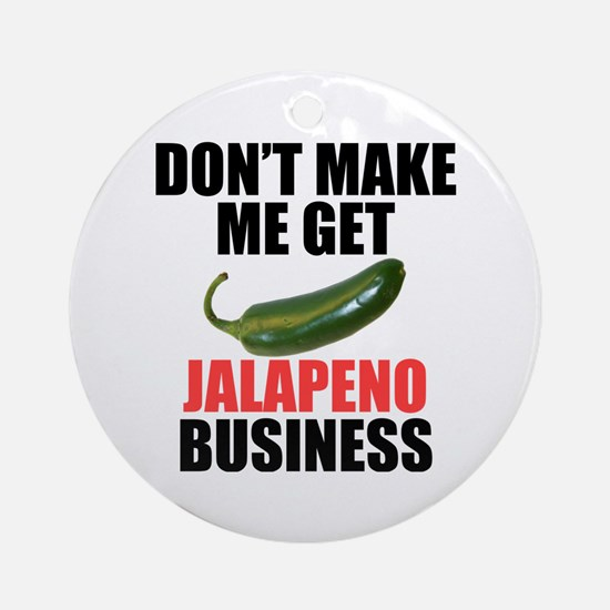 Jalapeno Business Ornament (Round)