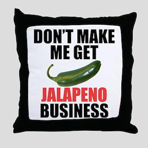 Jalapeno Business Throw Pillow