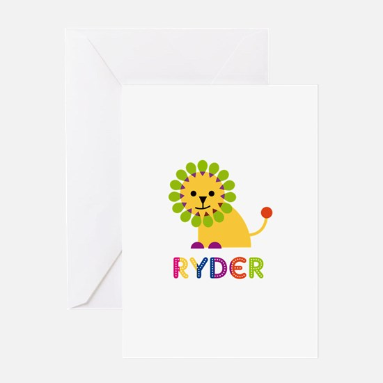 Ryder Loves Lions Greeting Card
