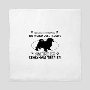 Sealyham Terrier dog funny designs Queen Duvet