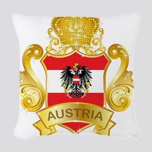 Gold Austria Woven Throw Pillow
