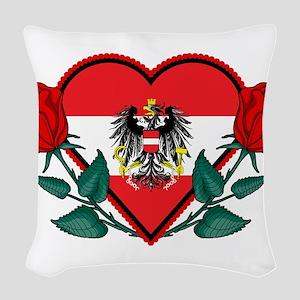 Heart Austria Woven Throw Pillow
