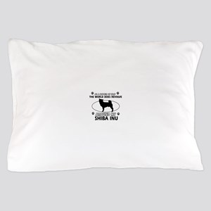 Shiba Inu dog funny designs Pillow Case